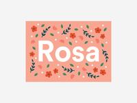 Rosa Birth Card