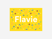 Flavie Birth Card
