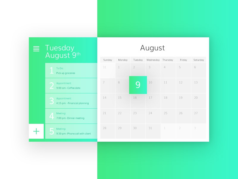 100 Day Challenge Day 11 Calendar Planner By Gabe Chui Dribbble
