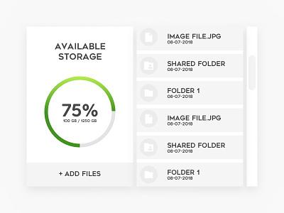 100 Day Challenge Day 37 - File Storage storage uichallange simple design day037 daily100 daily clean 37