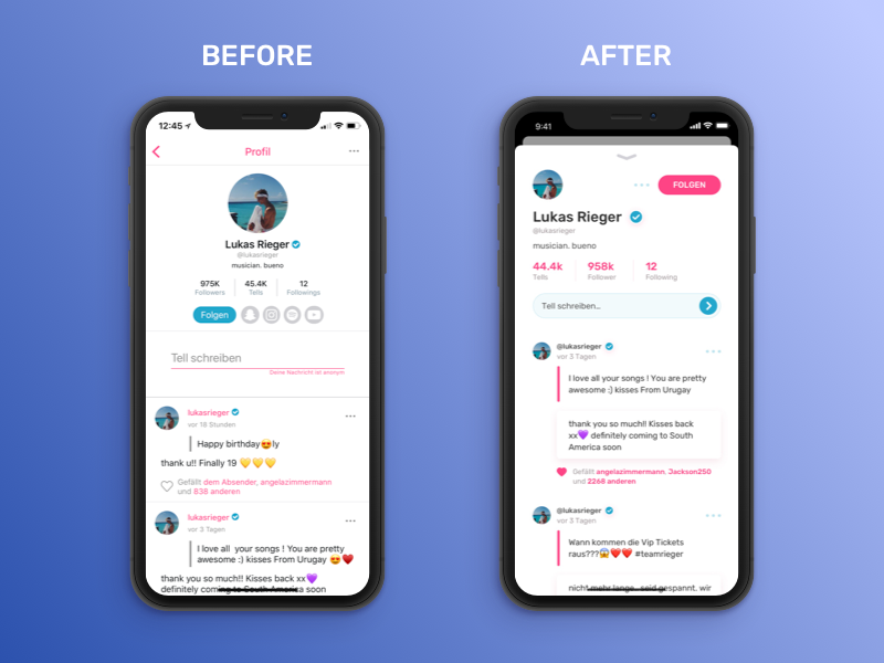 60 Minutes Challenge - Tellonym App Profile by Max Tommy