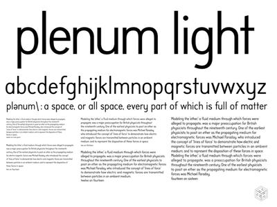 Plenum Light typographic design scratch-built font face letterforms typography font