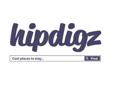 Hipdigz.com Logo sharing economy logo design typography