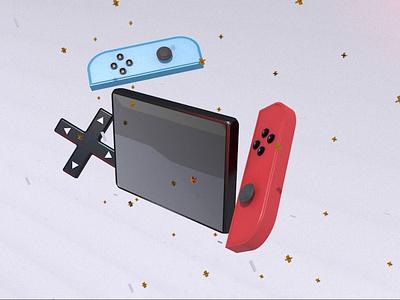 Switched Illustration controller 3d ilustration 3d animation 3d modeling 3d art games nintendo switch nintendoswitch nintendo vector icons illustration ui motion