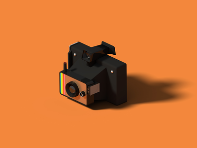 Polaroid Colour Swinger polaroids polaroid isometric art isometric illustration camera blender 3d blender 3d