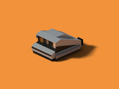 Polaroid Spectra spectra polaroid isometric art isometric illustration camera blender 3d blender 3d