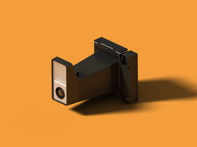 Polaroid Big Shot big shot polaroid isometric art isometric illustration camera blender 3d blender 3d