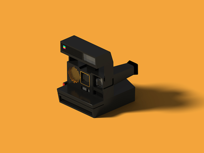 Polaroid 660 AF polaroids old camera polaroid isometric art isometric illustration camera blender 3d blender 3d