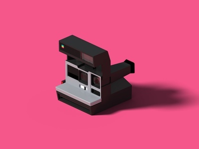 Polaroid Sun 600 LMS blender 3d blender illustration camera polaroid isometric art 3d isometric