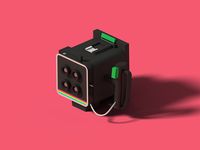 Polaroid Miniportrait 402 polaroid isometric art isometric illustration camera blender 3d blender 3d