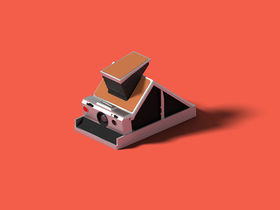 Polaroid SX-70 sx-70 polaroid isometric art isometric illustration camera blender 3d blender 3d
