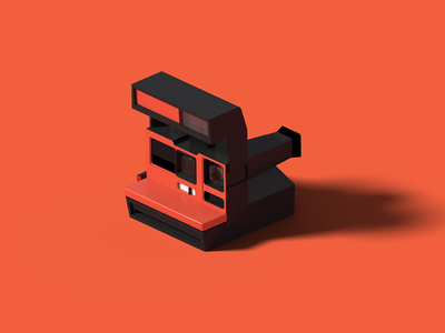 Polaroid Cool Cam Red cool cam polaroid isometric art isometric illustration camera blender 3d blender 3d