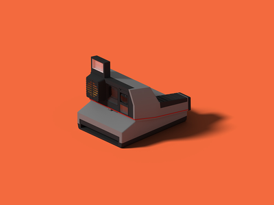 Polaroid Impulse AF impulse polaroid isometric art isometric illustration camera blender 3d blender 3d