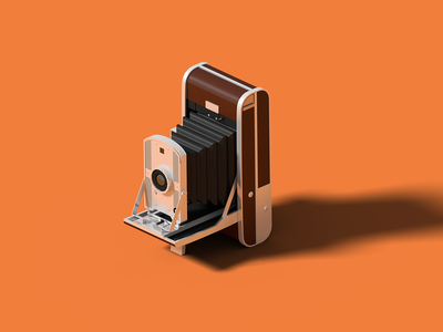 Polaroid Land Camera 95 vintage camera old camera polaroid isometric art isometric illustration camera blender 3d blender 3d