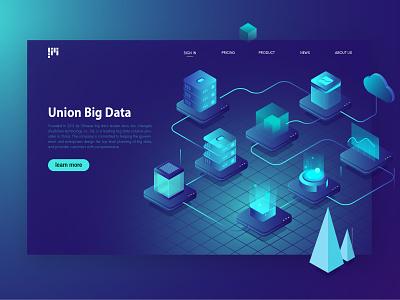 union big data web ui illustration design