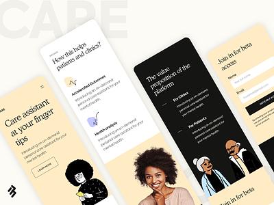 Mobile Site Design - Health Care Product productdesign healthcare website design clean graphic design ux design user interface design ui design 17seven