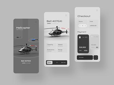 Copter Rentals rental app rental service design ui iphone app design branding mobile ux design clean user interface design ui design