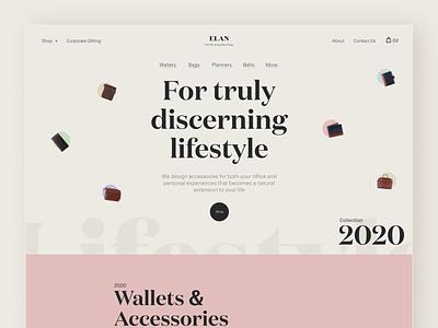 Elan   eCommerce Website Design branding website ecommerce clean ux design user interface design ui design