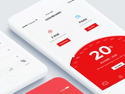 Tikona app concept ios app android app tikona internet minimal clean ux design ui design 17seven
