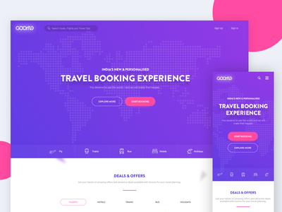 Travel Booking Website interface user booking travel 17seven website ux design ui