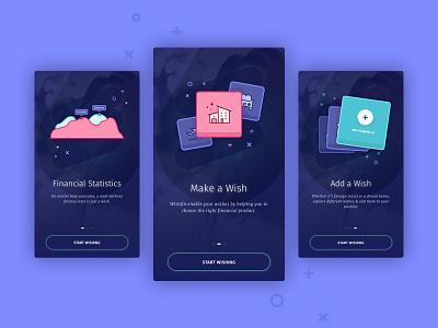 Onboarding screens - Finance App ux design graphic design 17seven interaction mobile on-boarding ui design ui finance management