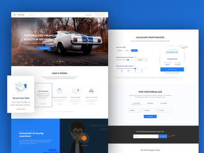 Homepage Design - Carzing design agency cars used car carzing 17seven homepage ux design ui design