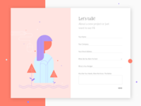 Contact page - UI design