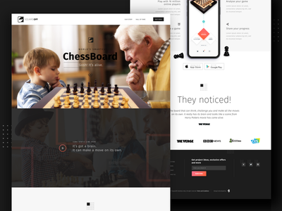 Square Off - Website Homepage artificial intelligence ai chess illustrations graphic design home chessboard homepage ux design ui design