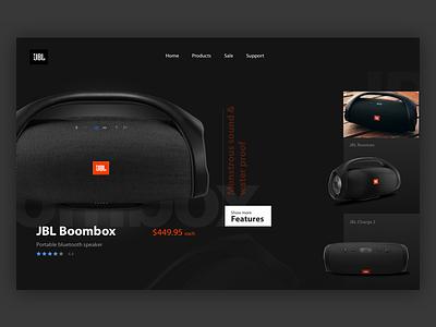 JBL - Concept design 17seven design clean ux design graphic design user interface design ui design