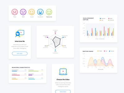 Interview Analysis Platform - UI-UX Design education website analysis platform artificial intelligence education app ui design graphic design ux design clean user interface design ui design