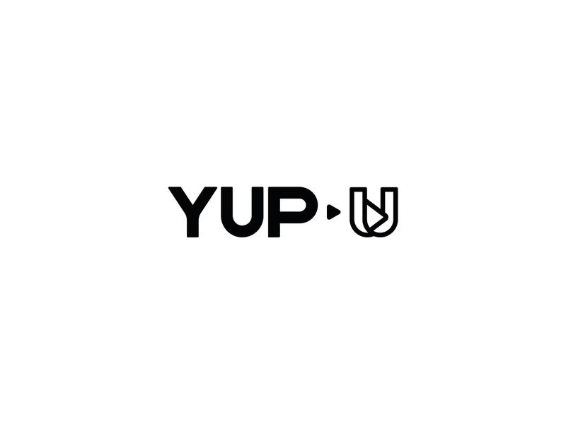 Yup U_Media Production (U+Play Icon) typogaphy brand movies movie play icon design logos type advertise uk identity branding logo netflix media