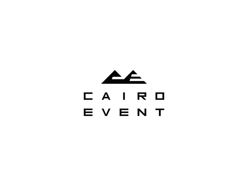 Cairo Event Logo ( C+E+Pyramids) Concept giza pyramids symbol typography typeface design type logos mark branding logo event cairo pyramid
