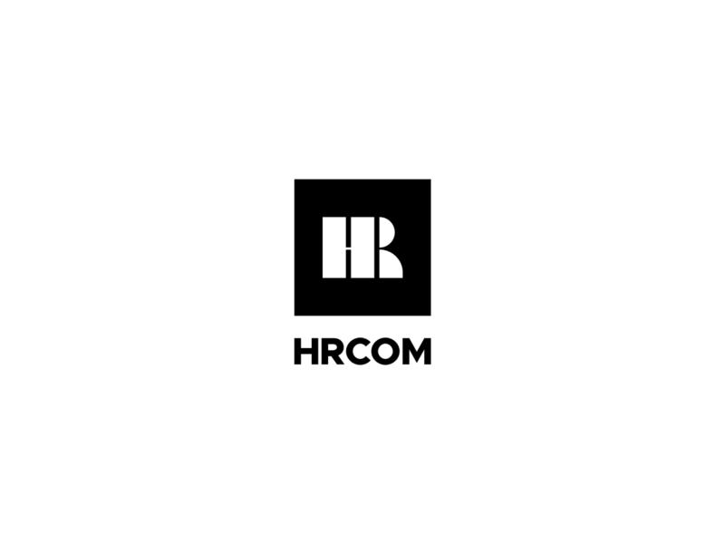 HRcom ( H+R+Human icon ) ksa hr software hr logo system hr icon letter typeface design type identity logos mark branding logo