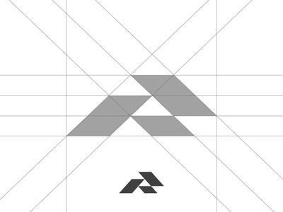 Letter R Grid graphicdesign gridsystem r logo graphic brand typeface design type identity logos mark branding logo grids grid