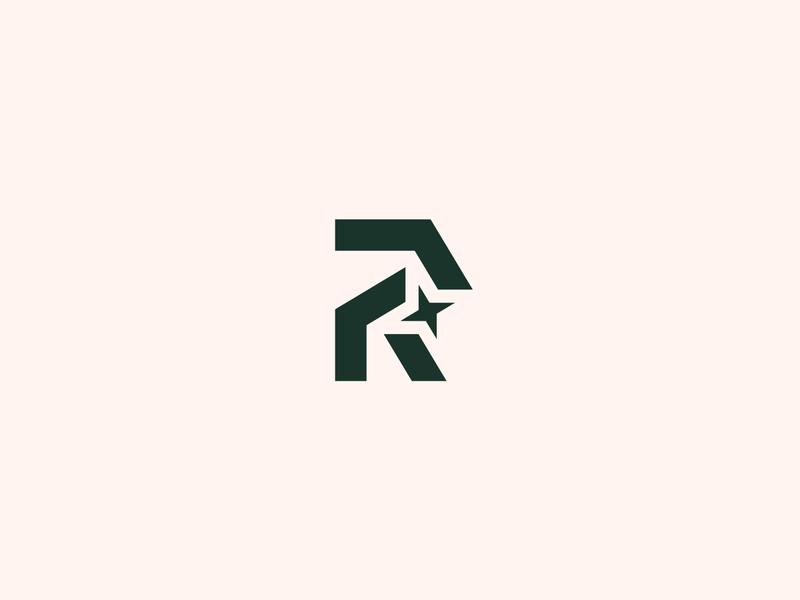 R + Star logo r letter brand typeface design type identity logos mark branding logo