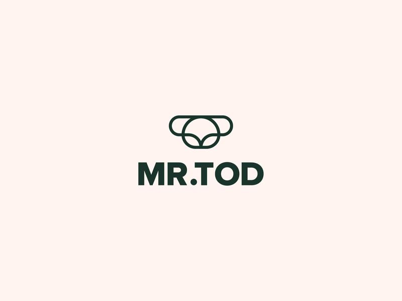 Mr. Tod logo design icon design logos sans serif line art brand animal logo mark logo tod fox logo