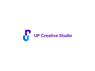 Up Creative Studio agency branding studio arrow logo design creative design creative up symbol logodesign icon mark identity illustration typeface letter type brand branding logotype logo