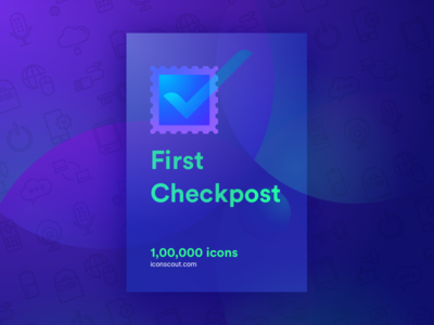 First Checkpost 100000 achievement community iconscout check sucess packs iconpack icons
