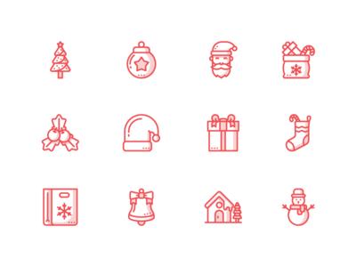 Free Christmas Iconpack festival snowman xmas gift santa iconset iconpack icons icon freebie free christmas