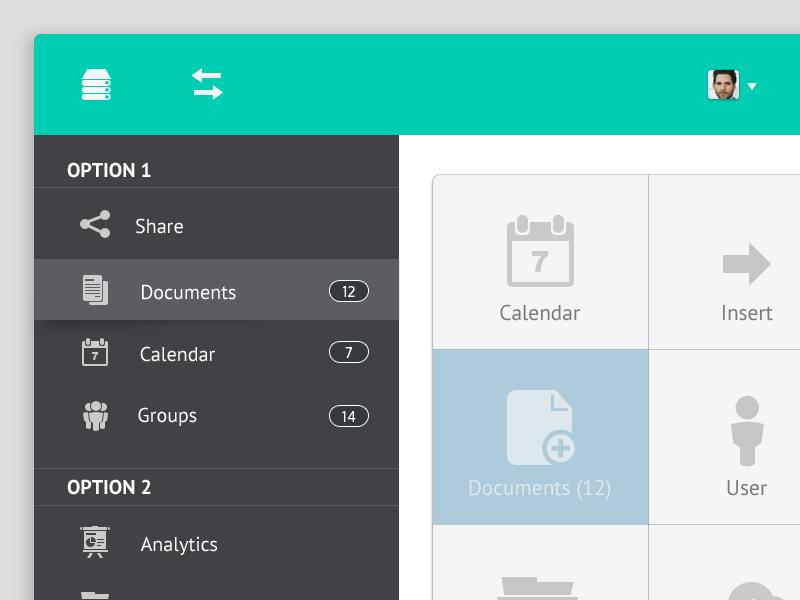 Dashboard ui web form widget menu design dashboard queue messages calendar analytics groups ipad