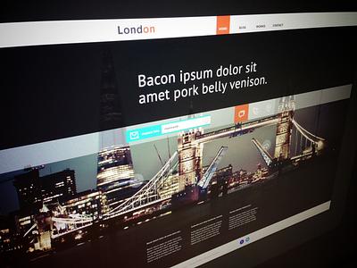 London web menu setting photos shopping location travel website ui