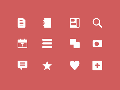 Orphans Icons Free PSD icon camera contact calendar search heart plus comment star document