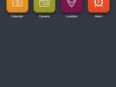 Icons icons ios photos mail phone camera alarm safari map location video music iphone