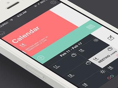 Task Update ios7 design flat iphone calendar notes climacons organize iphone5