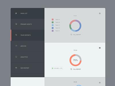 Accent Dash II website design ui web menu flat dashboard connect analytics charts