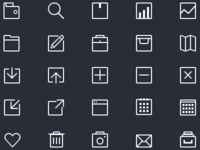 80 Thin Icons PSD