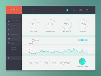 Analytics Dash ui icons web menu design flat flat design analytics dashboard ikon