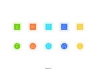 Shiny Icons Exploration illustration web design web ios shiny icons color exploration iconography icons
