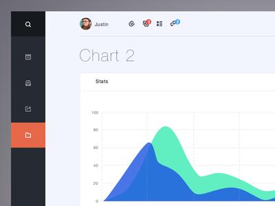 Chart ui design web flat menu dashboard icons analytics flat design beans