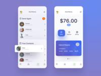Send Money money transfer finance app finance robots money app money banking fintech iphone design ui